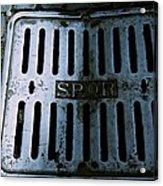 Roman Manhole Cover Acrylic Print