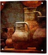 Roman Pots Acrylic Print
