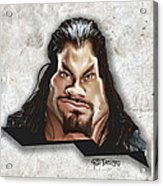 Roman Reigns Caricature By Gbs Acrylic Print