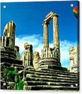 Roman Ruins From Above Acrylic Print