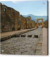 Roman Street In Pompeii Acrylic Print