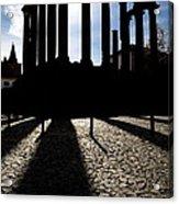 Roman Temple Silhouette Acrylic Print