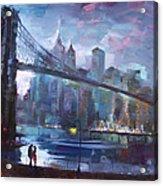 Romance By East River II Acrylic Print