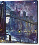 Romance By East River Nyc Acrylic Print
