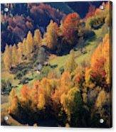 Romania, Transylvania, Carpathian Acrylic Print