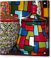 Romanian Colourful Pottery Acrylic Print