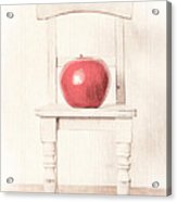 Romantic Apple Still Life Acrylic Print by Edward Fielding