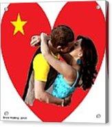 Romantic Kiss Acrylic Print