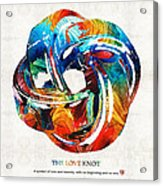 Romantic Love Art - The Love Knot - By Sharon Cummings Acrylic Print