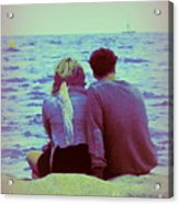 Romantic Seaside Moment Acrylic Print