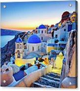 Romantic Travel Destination Oia Acrylic Print