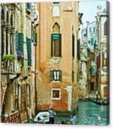 Romantic Venice Views From Gondola Acrylic Print