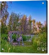 Romantic View By The Methow River Acrylic Print