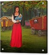 Romany Mother And Child Acrylic Print