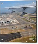Rome Airport From An Aircraft Acrylic Print