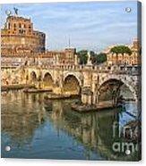 Rome Castel Sant Angelo 01 Acrylic Print