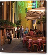 Rome Italy Accordion Serenade Acrylic Print
