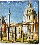 Rome Italy - Drawing Acrylic Print