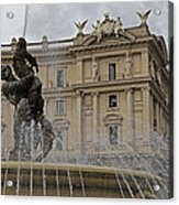 Rome Italy Fountain Naiads Acrylic Print