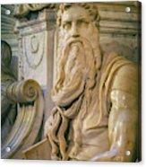 Rome, Italy. Michelangelos Moses Acrylic Print