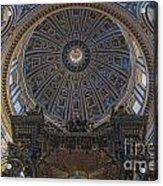 Rome Saint Peters Basilica Interior 01 Acrylic Print