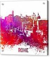 Rome Skyline Acrylic Print