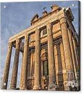 Rome Temple Of Antoninus And Faustina 01 Acrylic Print