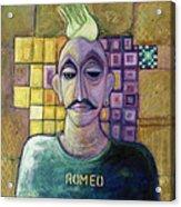 Romeo, 1970 Acrylic & Metal Leaf On Canvas Acrylic Print