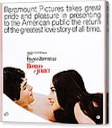 Romeo And Juliet, Us Poster, From Left Acrylic Print