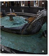 Rome's Fabulous Fountains - Fontana Della Barcaccia - Spanish Steps  Acrylic Print