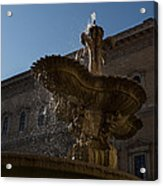 Rome's Fabulous Fountains - Piazza Farnese Fountain Acrylic Print