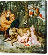 Romulus And Remus Acrylic Print