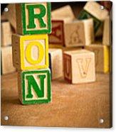 Ron - Alphabet Blocks Acrylic Print