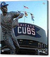 Ron Santo Chicago Cubs Statue Acrylic Print