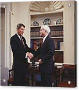 Ronald Reagan And John Mccain Acrylic Print by Carol Highsmith