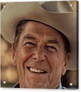 Ronald Reagan In 1976 At His Home At Rancho Del Cielo Acrylic Print