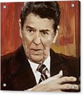 Ronald Reagan Portrait 2 Acrylic Print by Corporate Art Task Force