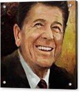 Ronald Reagan Portrait 8 Acrylic Print by Corporate Art Task Force