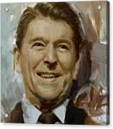 Ronald Reagan Portrait Acrylic Print by Corporate Art Task Force