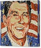 Ronald Wilson Reagan Mosaic Acrylic Print