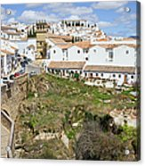 Ronda Old City In Spain Acrylic Print
