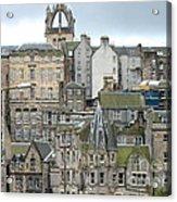 Roofs Of Edinburgh  Acrylic Print