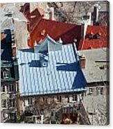 Roofs Of Quebec Acrylic Print