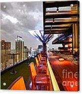 Rooftop Bar Above Eleven In Bangkok Acrylic Print by Fototrav Print