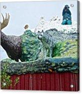 Rooftop Landmark Feature Of Haines Junction-yk Acrylic Print