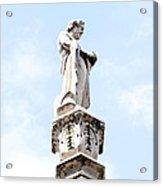 Rooftop Male Statue Duomo Di Milano Italia Acrylic Print