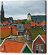 Rooftops From Our Host's Apartment In Enkhuizen-netherlands Acrylic Print