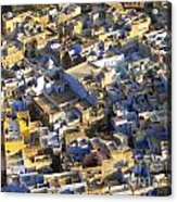 Rooftops In India Acrylic Print