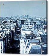 Rooftops Of Paris - Selenium Treatment Acrylic Print