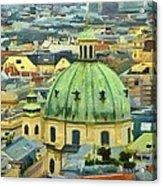 Rooftops Of Vienna Acrylic Print